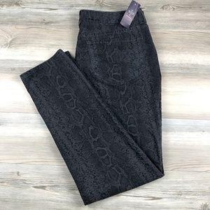 NYDJ Plus Size Snake Print Skinny Jeans NWT